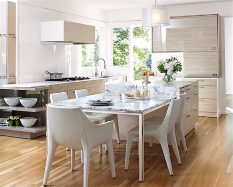 narrow dining tables  small elegant spaces modern