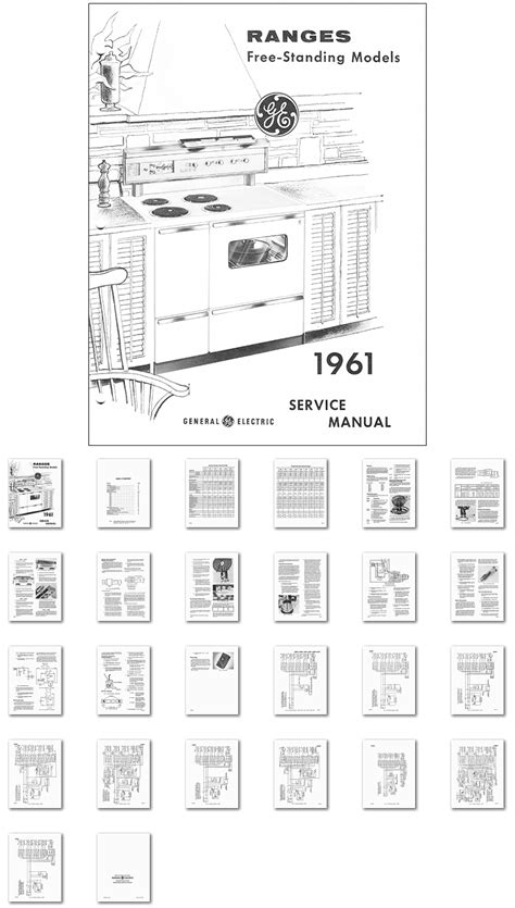 kitchen range library  general electric range oven service manual