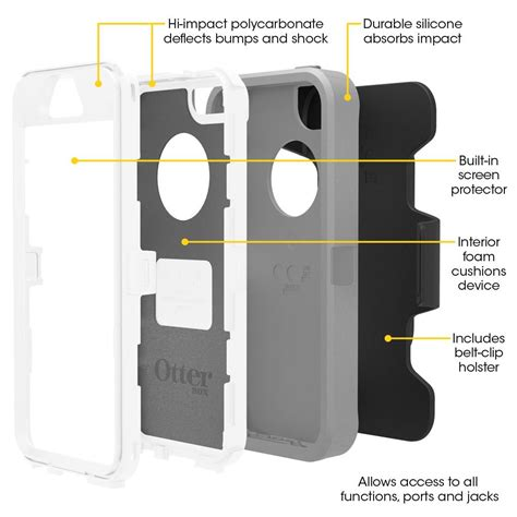otterbox iphone 5s otterbox 7733322 defender iphone 5 iphone 5s iphone se