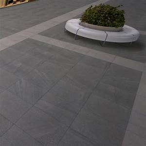 Dalle Sur Plots : dalle pietra carrelage ext rieur 2 cm gris anthracite imitation pierre carra france ~ Farleysfitness.com Idées de Décoration