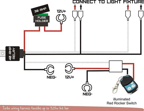 Wiring Diagram For Relay Light Bar by 12v Wiring Harness Kit Strobe Remote Switch For