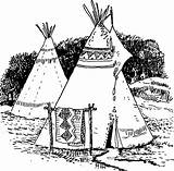 Coloring Tipi Printable Pages sketch template