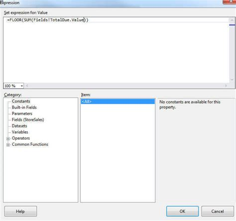 sql server reporting services unknown but useful functions
