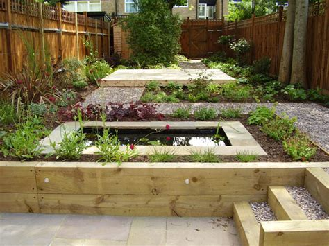 two level backyard landscaping ideas shady low maintenance garden on two levels
