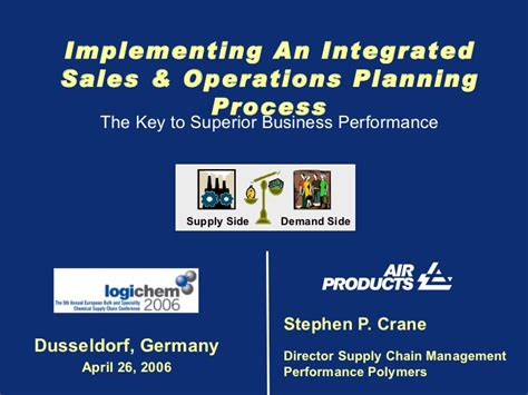 implementing  integrated sales  operations planning