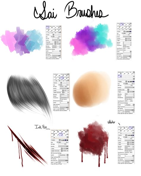my brushes for paint tool sai by raikou on deviantart