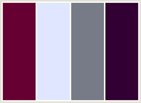colors that go with magenta colorcombo34 with hex colors 660033 e0e6ff 777b88 330033