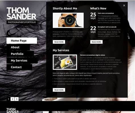 full js website template photography monsterpost