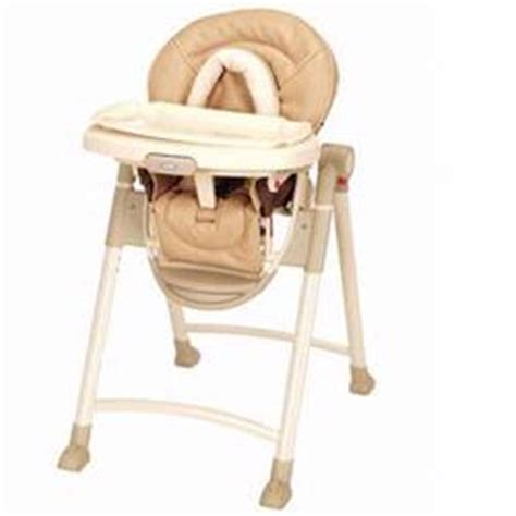 Graco Contempo Space Saver High Chair by Graco 3a11pst Contempo Leather High Chair Pebblestone Sc