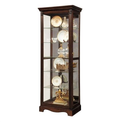 Pulaski Cambridge Display Cabinet by Pulaski Curio Classic Display Cabinet In Warm Cherry 21457