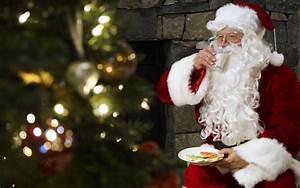 Wallpaper christmas, new year, santa claus, christmas tree ...