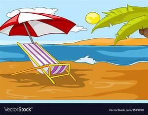 Beach Cartoon Royalty Free Vector Image - VectorStock