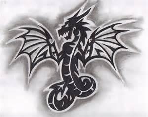 Tribal Dragon Tattoo Designs Drawings