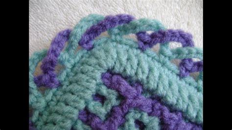 interlocking crochet criss cross edging youtube