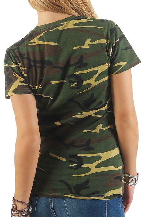 bundeswehr kostüm damen damen camouflage kurzarm t shirt us army tarnfarben