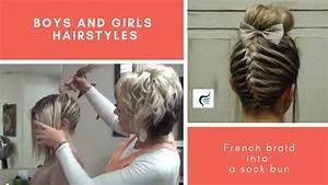 braid sock bun hairstyle