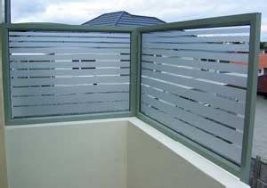 frosted film  glass balustrade  pool fence