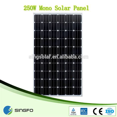 30v 250w high efficiency solar panel price in india for