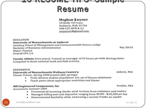Different Parts Of Resume And Its Significance by Mybskool Live Class Why Analysis Of A Resume Is Important