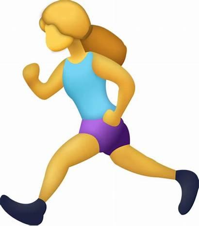Emoji Running Woman Iphone Exercise Emojis Clipart