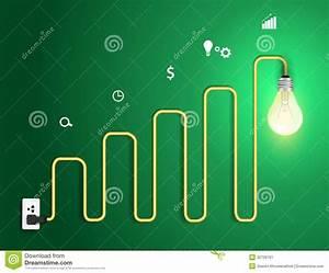 Vector Creative Light Bulb Abstract Charts And Gra Stock Vector
