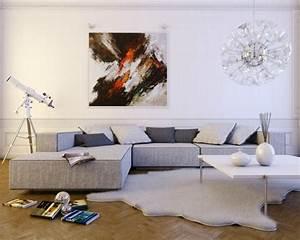 Sofa Kleines Wohnzimmer : kleines wohnzimmer gro es sofa so setzen sie die couch in szene ~ Markanthonyermac.com Haus und Dekorationen