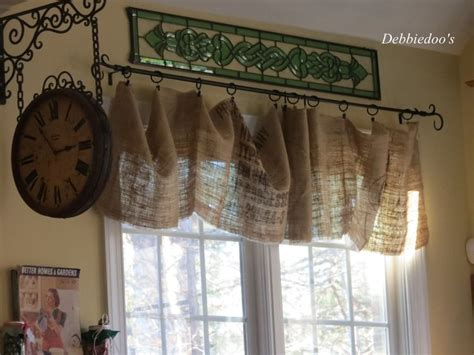 country kitchen valances for windows 25 best ideas about burlap kitchen curtains on 8465