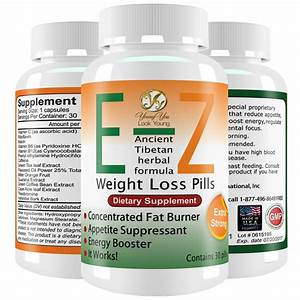 E-z Weight Loss Diet Pills Appetite Suppressant Fat Burner Capsules