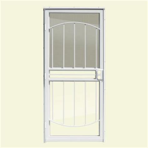 screen door with glass insert unique home designs 32 in x 80 in arbor white recessed 7872