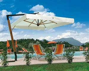 Grand Parasol Déporté : parasol d port pour terrasse grand parasol excentr de luxe haut de gamme ~ Teatrodelosmanantiales.com Idées de Décoration