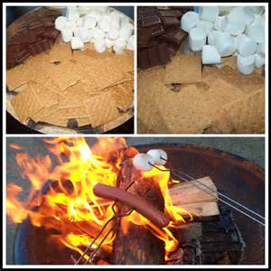 Roasting S'mores and Hot Dog