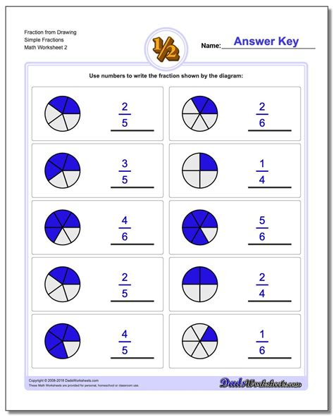 fraction  drawing