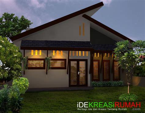 desain fasad belakang rumah tropis minimalis ide kreasi