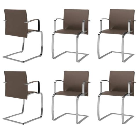 set of six italian dining room chairs modern design new