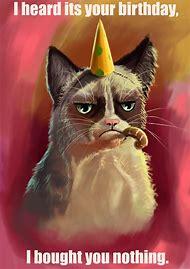 Grumpy Cat Happy Birthday Wish