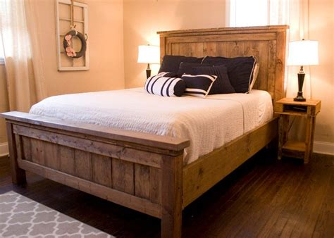 size wood bed farmhouse bed rustic furniture wooden bed contact 15350