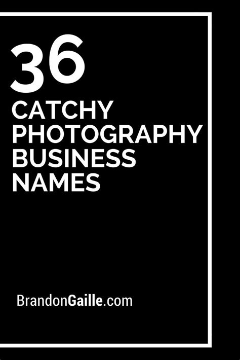 catchy photography business names photography