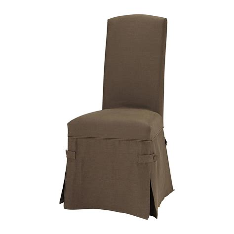brown linen chair slipcover maisons du monde
