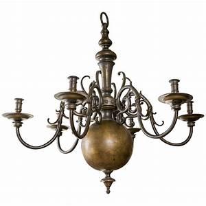 Large dutch brass chandelier at stdibs