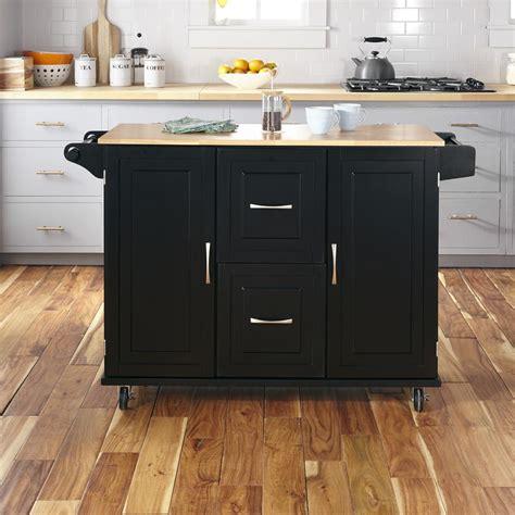 home styles patriot black kitchen cart    home