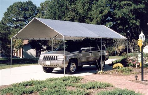 king canopy  leg    portable garage withsilver cover