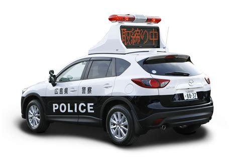 japanese cops  diesel powered mazda cx  patrol cars