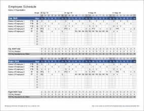 Excel Spreadsheet For Scheduling Employee Shifts by Employee Schedule Template Shift Scheduler