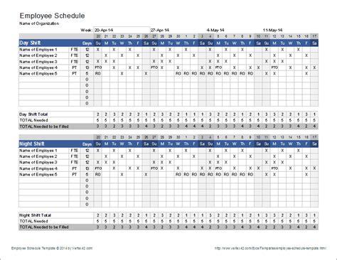 nursing schedule template employee schedule template shift scheduler