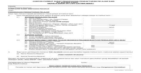 contoh format surat pengesahan format surat pengesahan