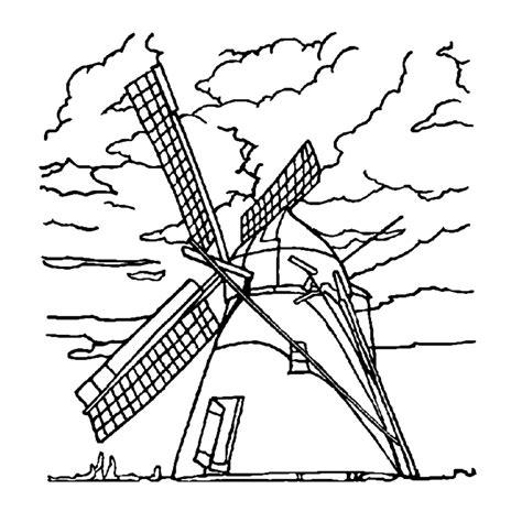 Molen Kleurplaat by Leuk Voor Windmolens 0004