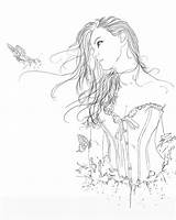 Deviantart Coloring Fairy Counting Stars Timeless Shadow Drawing Corset Adult Template Sketch Colouring Thin Sullen sketch template