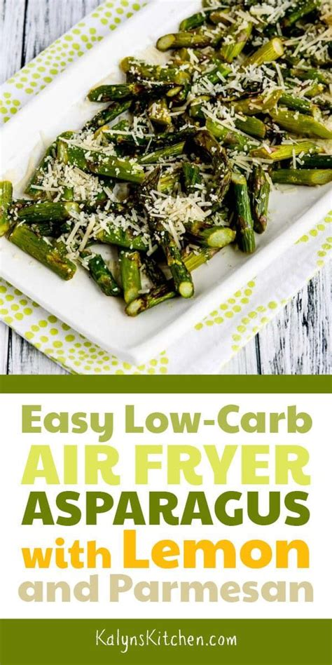 fryer air asparagus carb low recipe easy parmesan lemon recipes healthy kalynskitchen