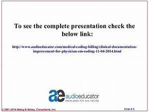 clinical documentation improvement for physician e m coding With clinical documentation improvement software