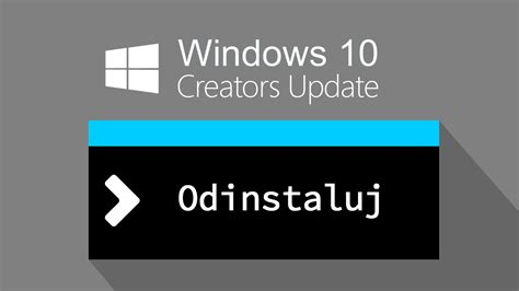 jak odinstalować windows 10 creators update